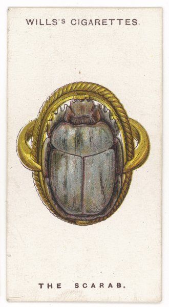SCARAB TALISMAN To the ancient Egyptians the scarab was the emblem of re- creation, making this carved stone talisman a favourable symbol