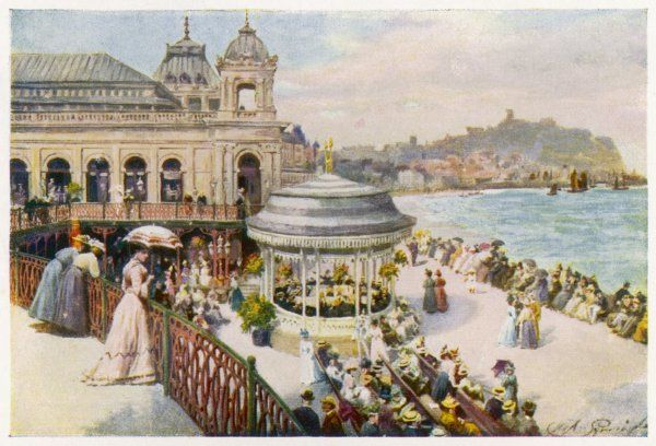 Scarborough, Yorkshire: the Italian Terrace at the Spa
