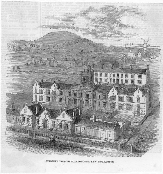 A birdseye view of Scarborough New Workhouse
