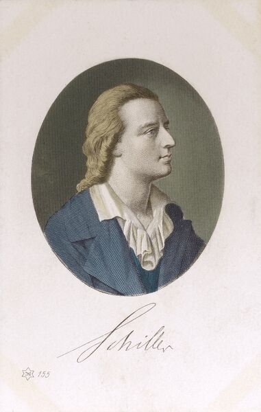 Johann Christoph Friedrich Schiller (1759 - 1805) - German author and writer Date: circa 1910s