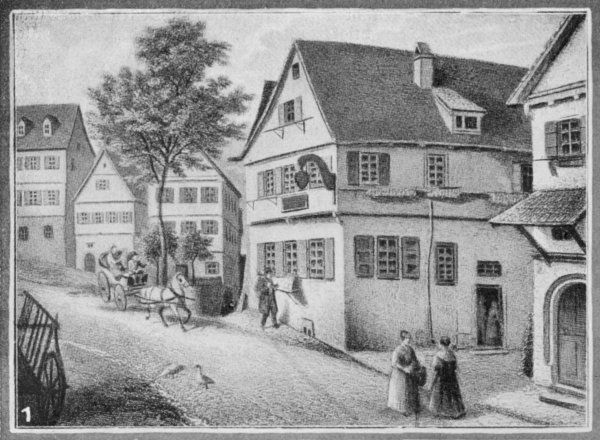 FRIEDRICH VON SCHILLER Birth place of the German writer, poet and historian in Marbach (Southern Germany)