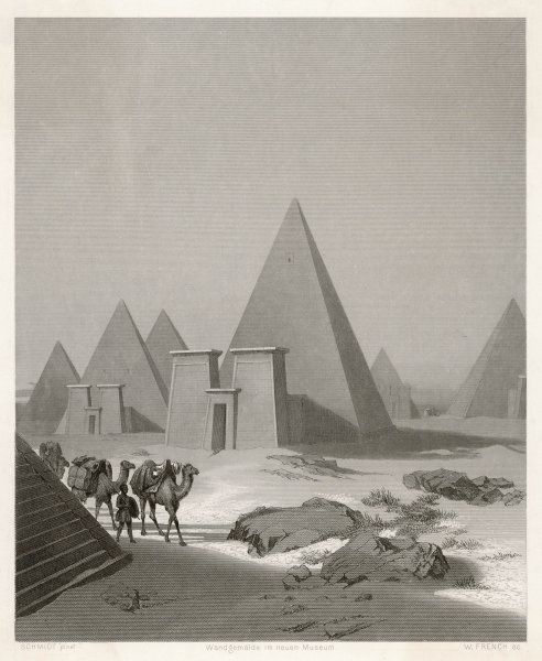 The pyramids at Meroe