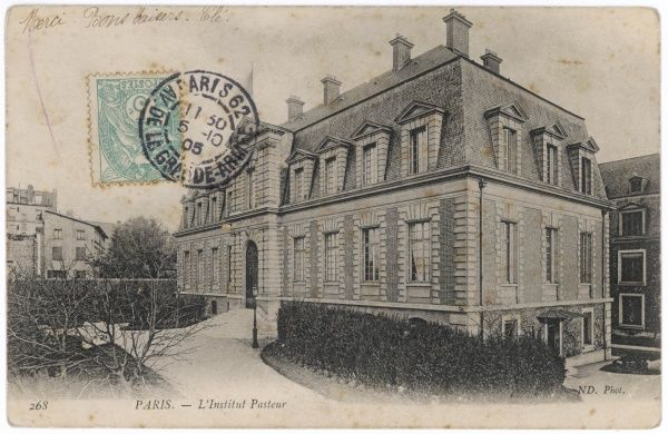 L'Institut Pasteur, Paris. Louis Pasteur, French chemist and microbiologist, was the Director between 1888-95