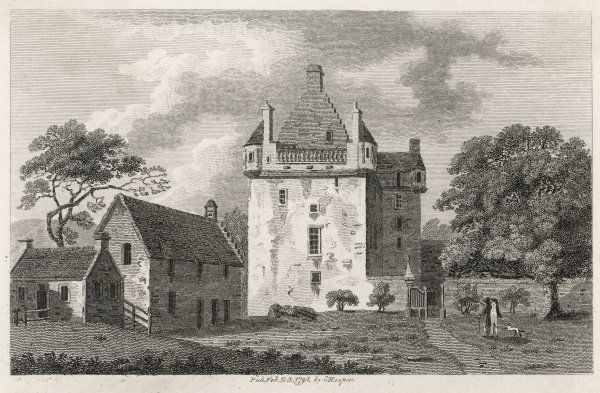 View of the Old House of Cassilis, Ayrshire