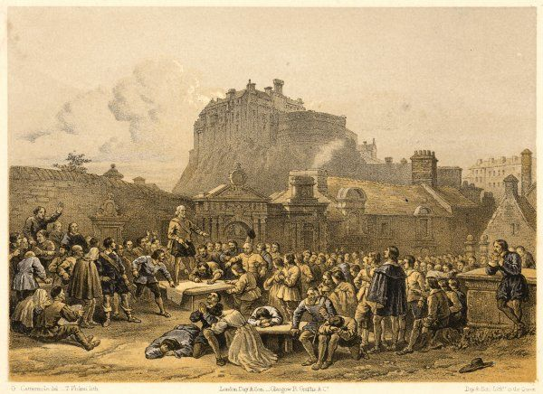 The signing of the covenant in Greyfriars' churchyard, Edinburgh