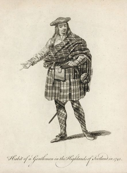 Habit of a gentleman of the Highlands of Scotland