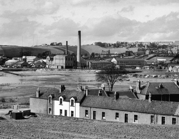 A fine view of Inverkeithing, Fifeshire, Scotland, showing the Paper Mills