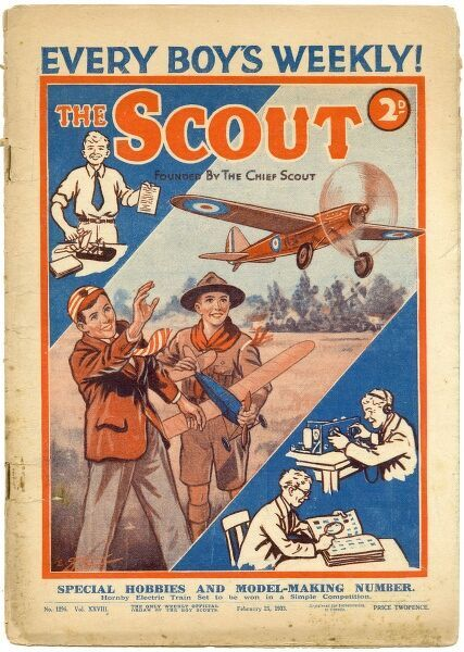 "Front cover of The Scout magazine, ""The Only Weekly Official Organ of the Boy Scouts&quot"