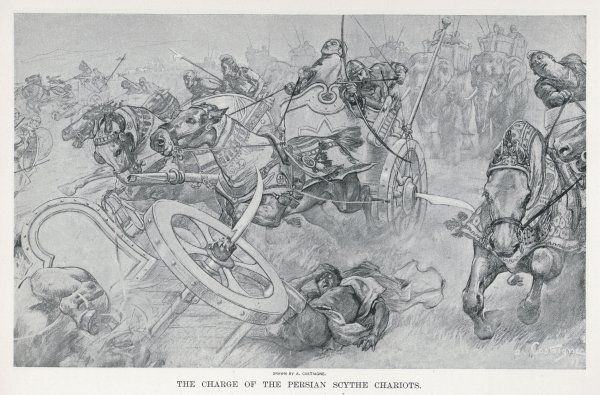 Chariots of the Ancient Scythians on the attack