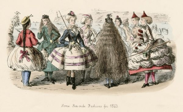 Some sea side fashions for 1863