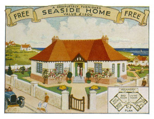 A three bedroom seaside bungalow offered as a prize in a competition