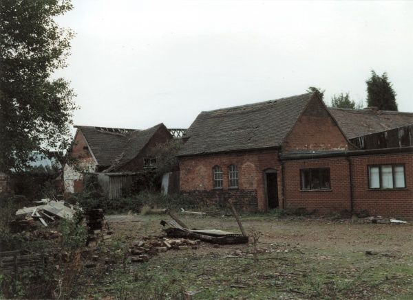 The derelict remains of the Seisdon Union Workhouse at Trysull in Staffordshire Date: 2000