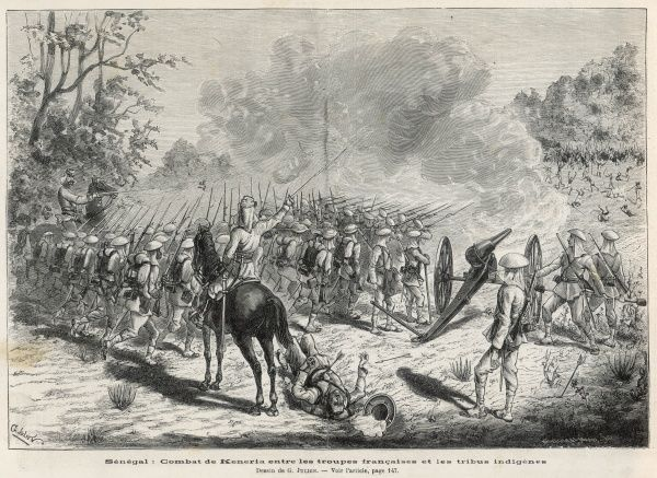The French fight the natives at Keneria