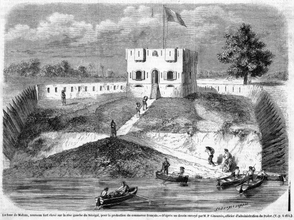Fort built at Matam, on the bank of the Senegal River, for the protection of French traders