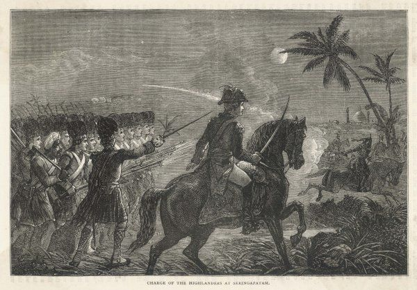 Charge of the highlanders at Seringapatam