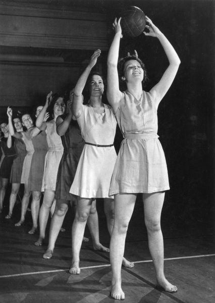 A Fitness for Service women's class attended twice a week during lunch hours. Fitness classes, keep fit Date: late 1930s