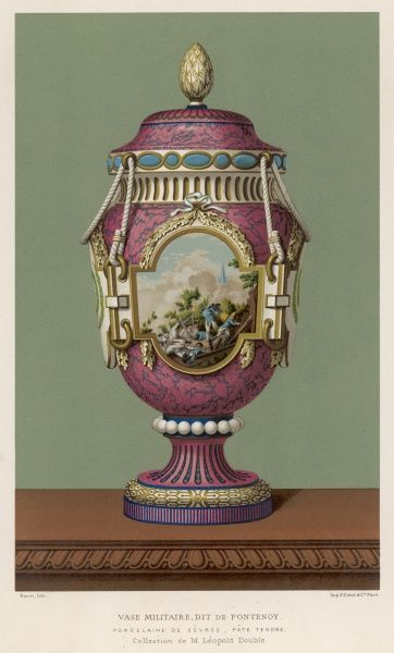 A Porcelain vase from Sevres, France, in the traditional over-the-top French style