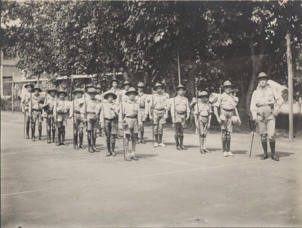 Seychelles Scouts, January Camp. 1931