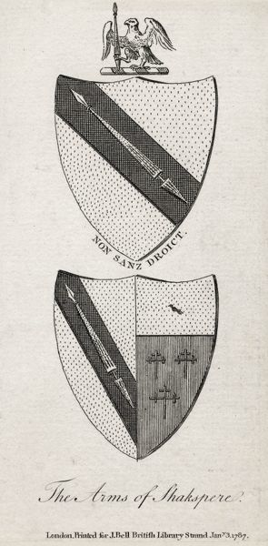 WILLIAM SHAKESPEARE Shakespeare's coat of arms