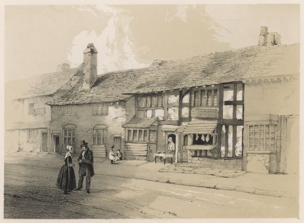 Shakespeare's birthplace when it was a food shop