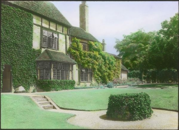 A view of New Place, in Stratford-upon-Avon, Warwickshire, where Shakespeare died in 1616. Seen from the garden