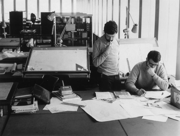 Students at Sheffield University studying architecture Date: 1950s