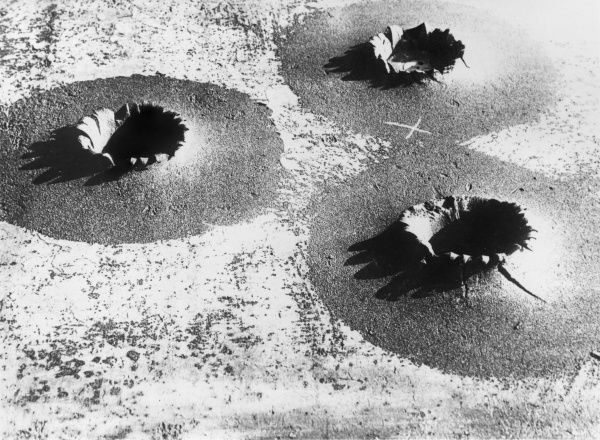 Three shell craters after bombardment at Liege, Belgium, during the First World War. Date: 1914-1918
