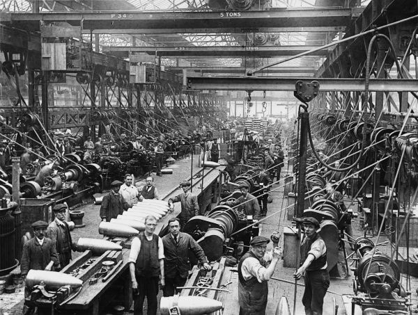 An English Shell Factory during World War I