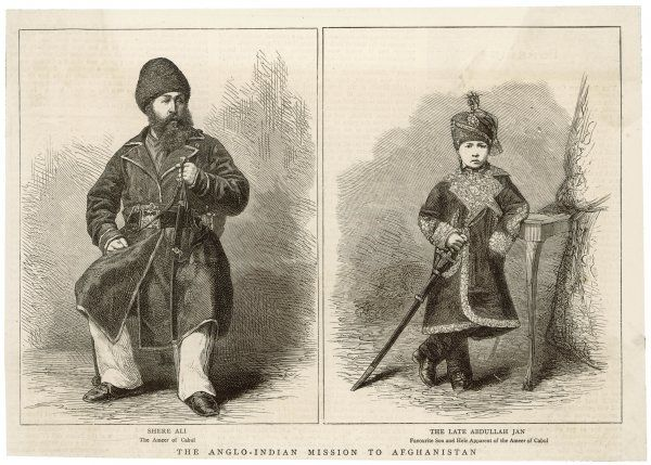 SHER (SHERE) ALI, AND HIS LATE HEIR, ABDULLAH JAN Emir of Kabul from 1863-79, son of Dost Mohammed. Friendly relations with Russia led to conflict with the British