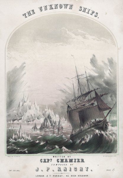 The brig 'Renovation' sights two vessels on an iceberg, which are supposed to be Franklin's 'Erebus' and 'Terror', last heard of in July 1845