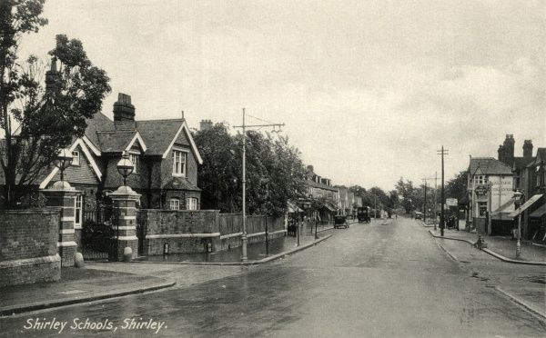 The entrance (left) tot the Shirley Schools on Wickham Road, Shirley