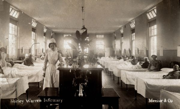 Ward interior at Shirley Warren Infirmary, Southampton