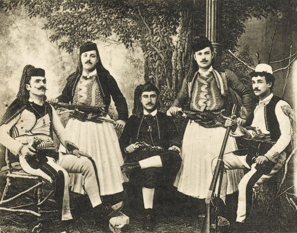 Albanian volunteers for the Ottoman Empire army from Shkoder, Albania