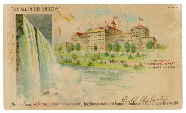 'The Home of SHREDDED WHEAT' Niagara Falls, New York state, describing itself as 'the finest and most hygienic industrial building in the world&#39