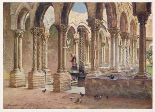 Monreale, Sicily: the cloisters