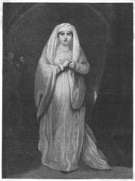SARAH SIDDONS as Lady Macbeth in Shakespeare's Macbeth