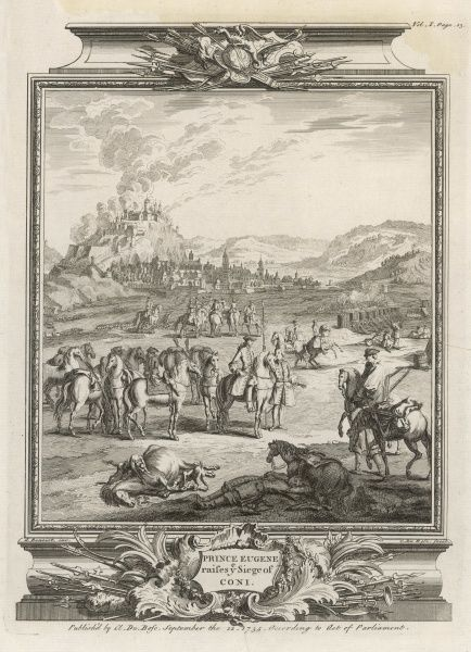 The strategic location of Cuneo (Coni) in Piedmont means it is often besieged. Here, Eugene of Savoy raises a siege attempted by the French, much to the mortification of Louis