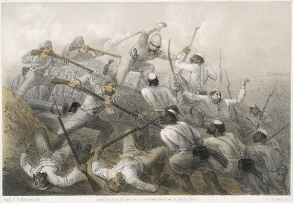 The repulse of a sortie during the siege of Delhi