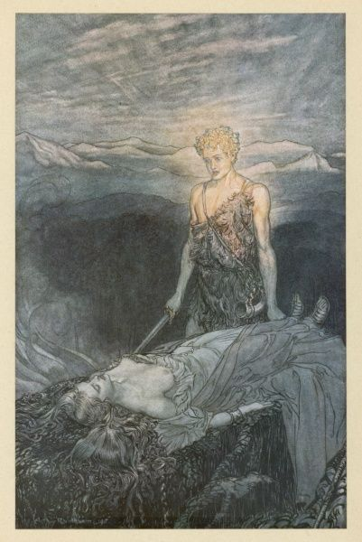 Act three : Siegfried is enraptured at the sight of the sleeping Brunnhilde