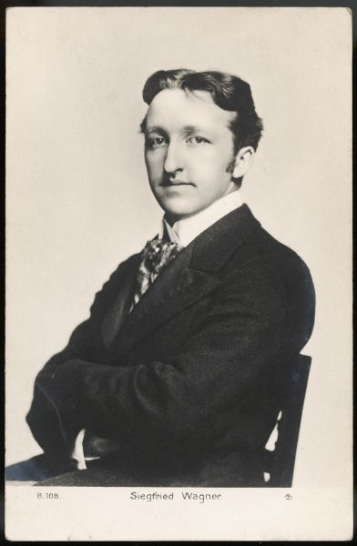 SIEGFRIED WAGNER Son of composer Richard Wagner and a productive opera composer in his own right. Artistic Direcror of the Bayreuth festival 1908-30