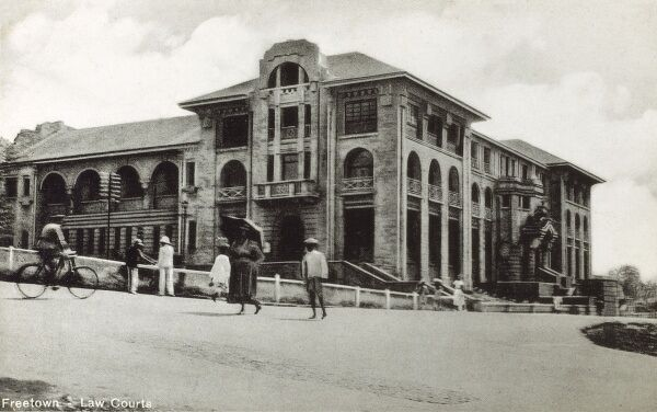 Sierra Leone - Freetown - The Law courts Date: circa 1905
