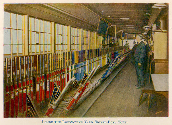 Even with colour coding, the signalman at York is faced with a massive array of levers - a mistake could be disastrous