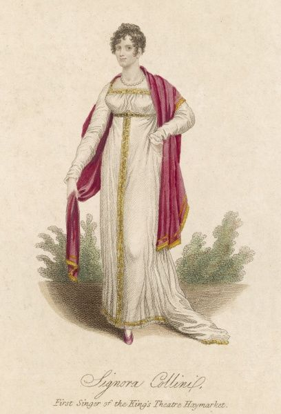 Signora Collini, born at Torino in 1794, first singer of the Kings Theatre, Haymarket, London in 1809- 1810