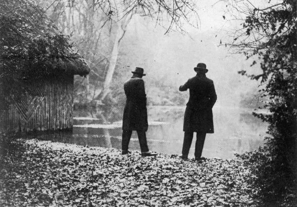 Photograph showing the 'Silent Pool' at Newlands Corner, Surrey, during 1926