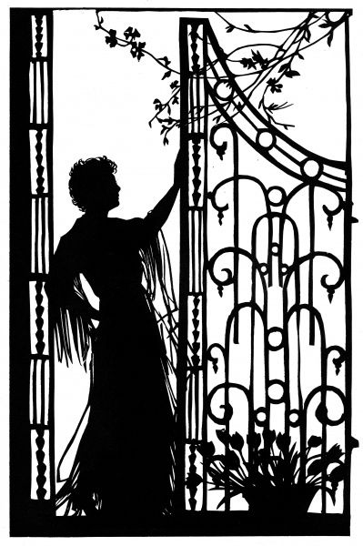 A beautiful silhouette of the operatic prima donna, Conchita Supervia, showing her at home in her London flat. 1935