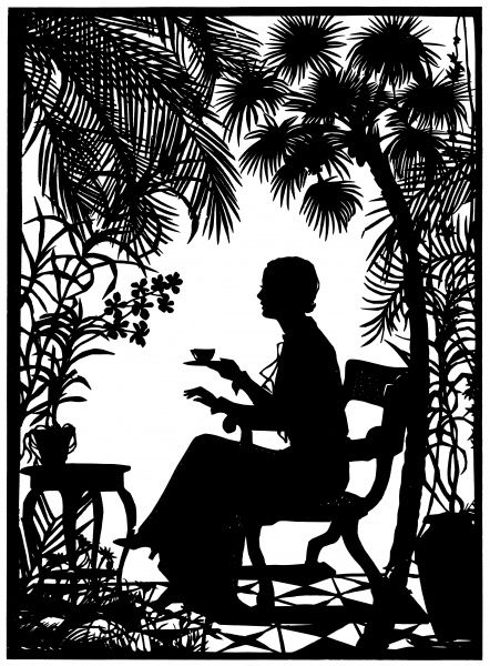 An intricate silhouette of the American film star, Grace Moore who made her d?t at Covent Garden in June 1935, as Mimi in Puccini's 'La Boh?'. 1935