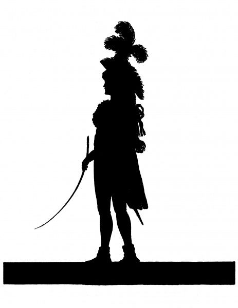 Silhouette portrait of Dorothea Jordan (born Dorothea Bland) 1762 - 1818, actress and mistress of King William IV (while Duke of Clarence). Date: c.1790
