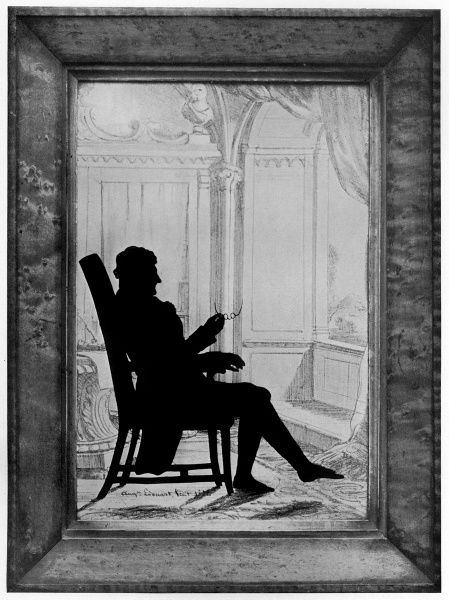 A signed portrait by the famous silhouette artist, August Edouart of James Sword Esql, of Armfield taken on May 25th, 1832. Date: 1832