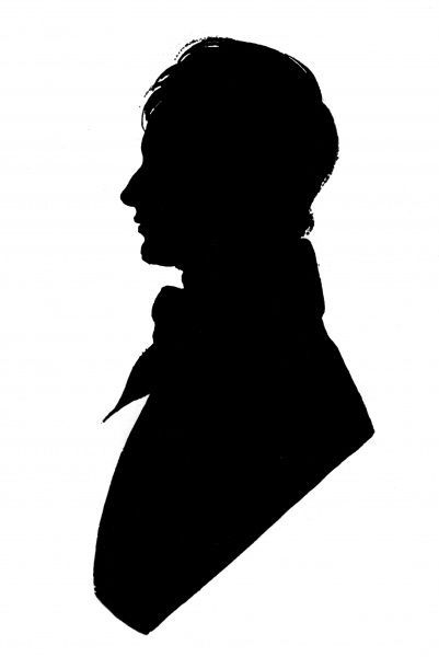 Silhouette portrait of Percy Bysshe Shelley (1792 - 1822), English romantic poet. Date: c.1815