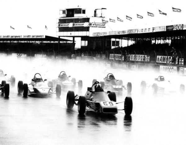 Motor racing at the Formula Ford B.R.D.C. (British Racing Drivers' Club) Championships, Silverstone, Northamptonshire, England. Date: 1980s